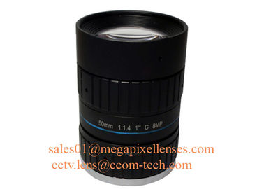 "China 1"" 50mm F1.4 8Megapixel C Mount Manual IRIS Low Distortion ITS Lens, 50mm Traffic Monitoring Lens factory"