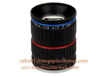 "China 2/3"" 35mm F1.2 5Megapixel Manual IRIS Low Distortion C Mount ITS Lens, 35mm Traffic Monitoring Lens factory"
