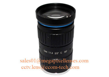 "China 2/3"" 12mm F1.4 5Megapixel Manual IRIS Low Distortion C Mount ITS Lens, 12mm Traffic Monitoring Lens factory"