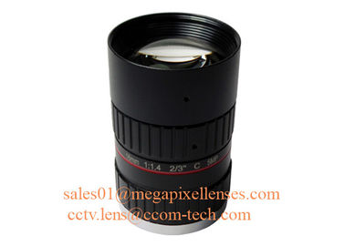 "China 2/3"" 16mm F1.4 5Megapixel Manual IRIS Low Distortion C Mount ITS Lens, 16mm Traffic Monitoring Lens factory"