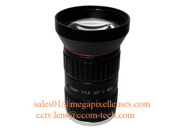 "China 2/3"" 20mm F1.4 5Megapixel Manual IRIS Low Distortion C Mount ITS Lens, 20mm Traffic Monitoring Lens factory"