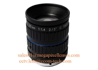 "China 2/3"" 25mm F1.4 5Megapixel Manual IRIS Low Distortion C Mount ITS Lens, 25mm Traffic Monitoring Lens factory"