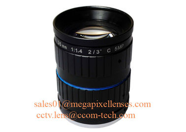 "China 2/3"" 35mm F1.4 5Megapixel Manual IRIS Low Distortion C Mount ITS Lens, 35mm Traffic Monitoring Lens factory"