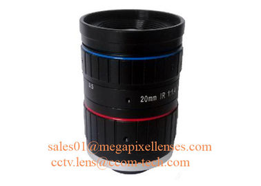 "1"" 20mm F1.4 8Megapixel Low Distortion C Mount ITS Lens with IR Collection, Traffic Monitoring Lens"