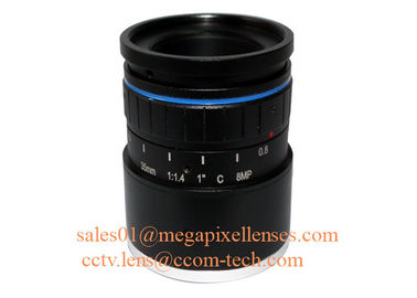 "1"" 35mm F1.4 8Megapixel DC Auto IRIS Low Distortion C Mount ITS Lens, Compact 35mm Traffic Monitoring Lens"
