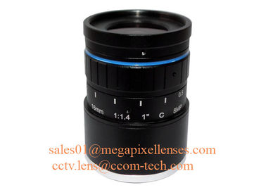 "China 1"" 16mm F1.4 8Megapixel DC Auto IRIS Low Distortion C Mount ITS Lens, 16mm Traffic Monitoring Lens factory"