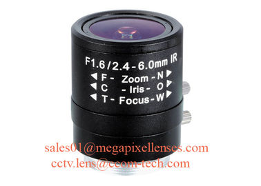 "1/3"" 2.4-6.0mm F1.6 Megapixel Manual/DC Auto IRIS CS Mount IR Vari-focal Lens, 150D wide angle varifocal lens"