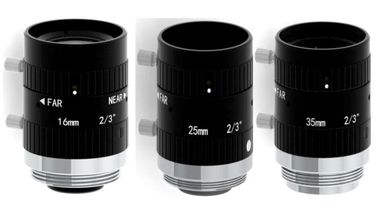 "2/3"" 16mm/25mm/35mm F1.8 5MP Manual IRIS C Mount Industrial FA Lens for 2/3"", 1/1.8"", 1/2"", 1/2.9"""
