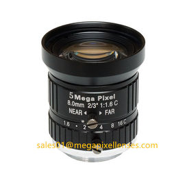"China 2/3"" 8mm/12mm F1.6 5Megapixel Manual IRIS Low Distortion C Mount ITS Lens, 8mm Traffic Monitoring Lens factory"
