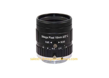 "2/3"" 16mm F1.6 Megapixel Manual IRIS C Mount Industrial FA Lens, 16mm 5MP Road Monitoring Lens TV Lens"