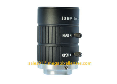 "1"" 16mm F1.4 10Megapixel Manual IRIS C Mount Industrial FA Lens, 16mm 10MP Non Distortion Industrial Lens"