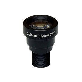 "China 2/3"" 35mm F1.8 5Megapixel M12x0.5 mount low distortion MTV board lens, 35mm IR lens factory"
