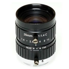 "China 2/3"" 25mm F1.4 10Megapixel Manual IRIS C Mount Industrial FA Lens, 25mm 10MP Non Distortion Industrial Lens factory"
